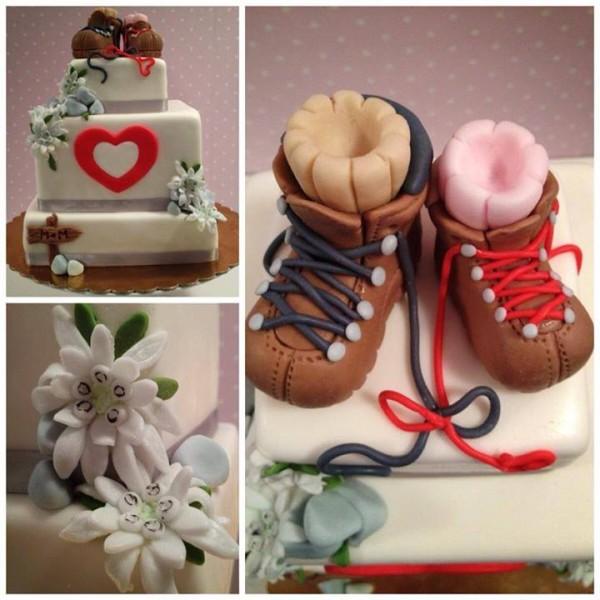 Pohodniška poročna torta
