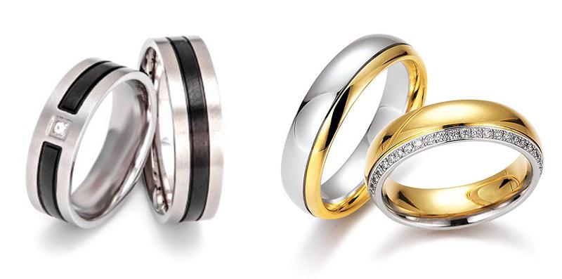 Več barvni poročni prstan