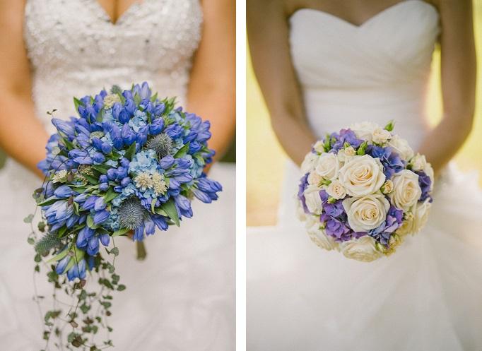 Poročni šopek - modra