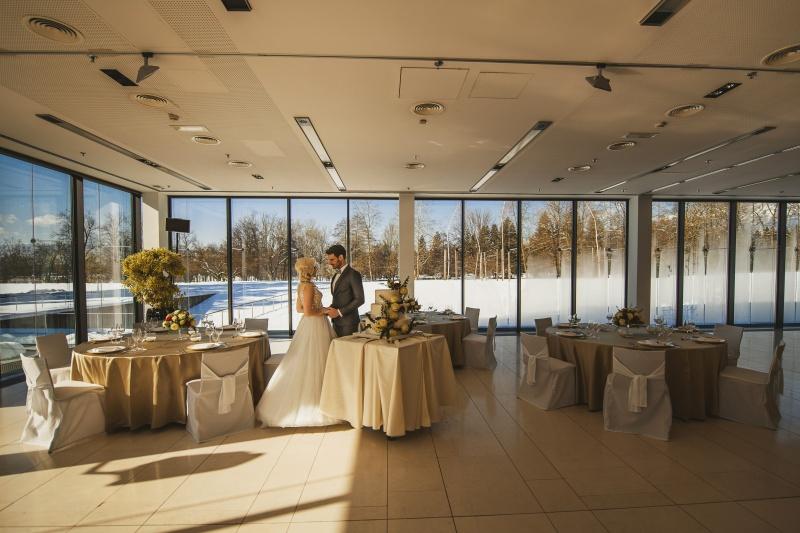 Zimska poroka na Brdu - poročno slavje