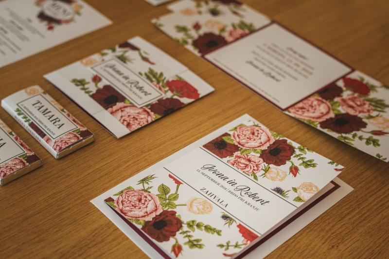 Zimska poroka na Brdu - poročne tiskovine