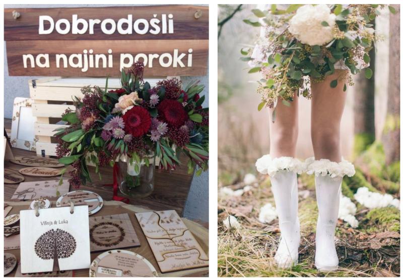 Poročna dekoracija - Sanjski šopek