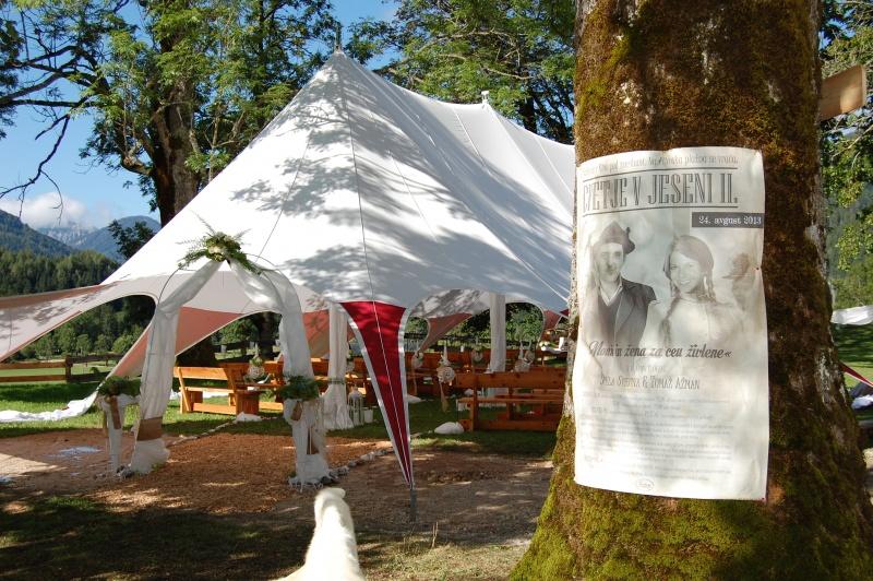 Poročni šotor - Cvetje v jeseni