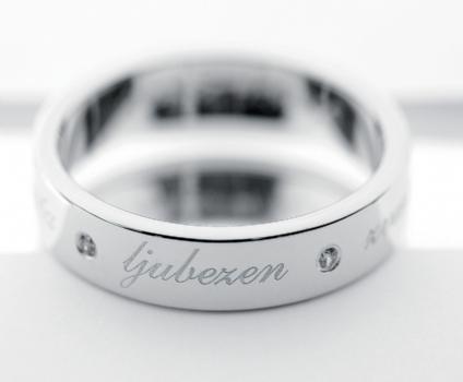Graviran poročni prstan