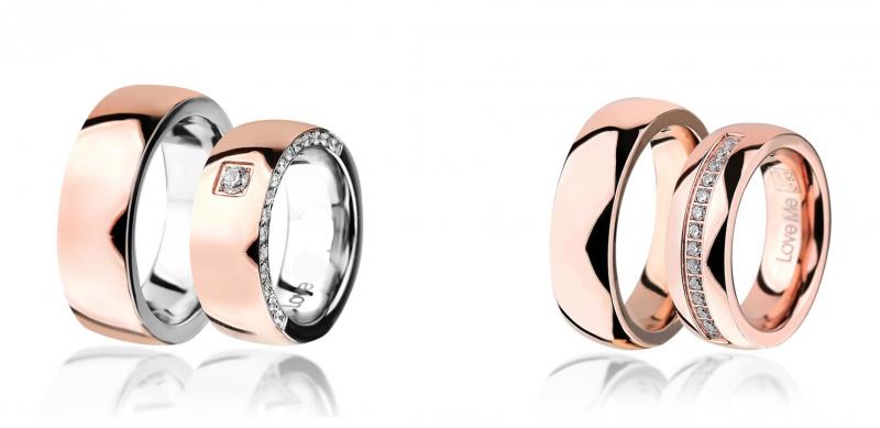 Jeklena poročna prstana