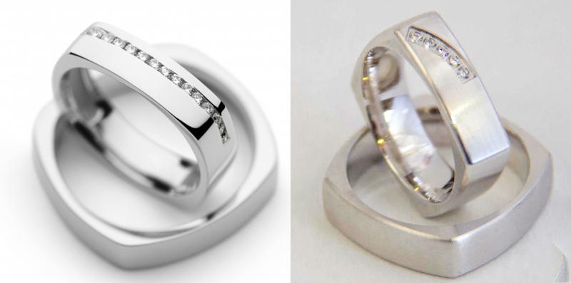 Kvadratni poročni prstan
