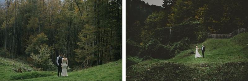 Poročno fotografiranje v naravi