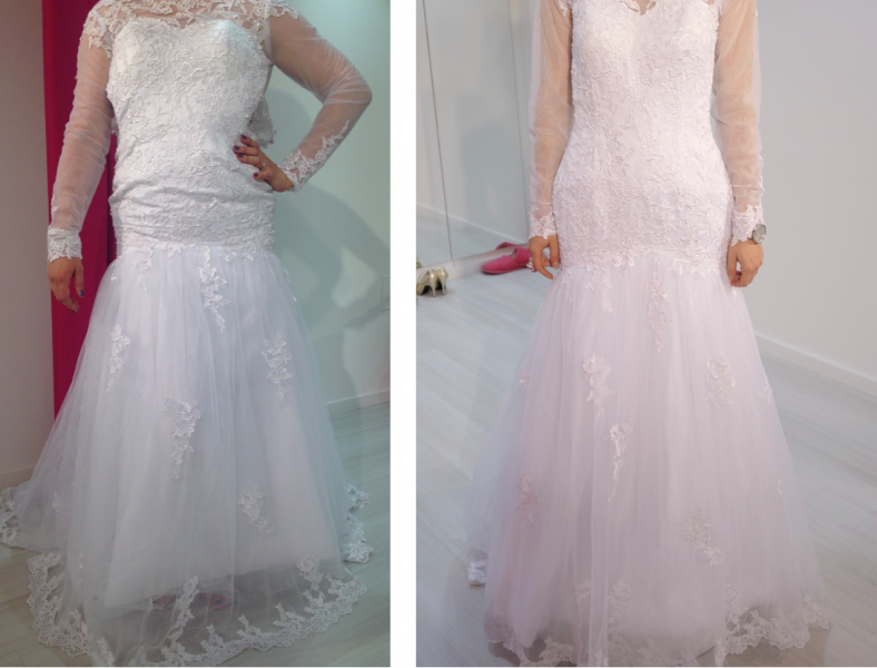 Primerjava konfekcijskih številk, poročna obleka iz Kitajske