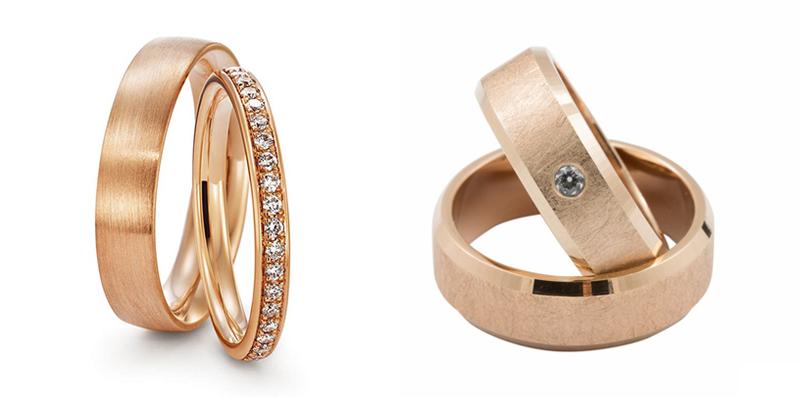Rose gold poročni prstan