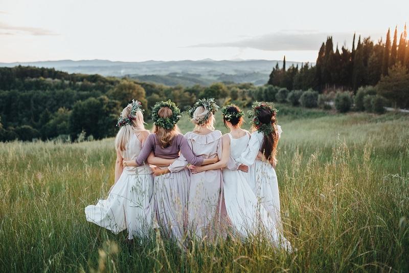 dekliščina, zabava, poroka, nevesta, veselje, družice