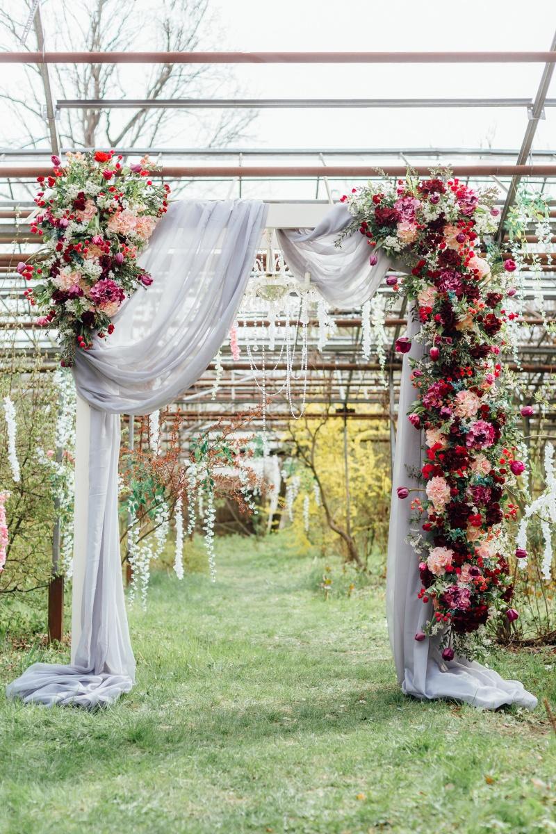 Poročni obok, poročna dekoracija, ideje za poroko