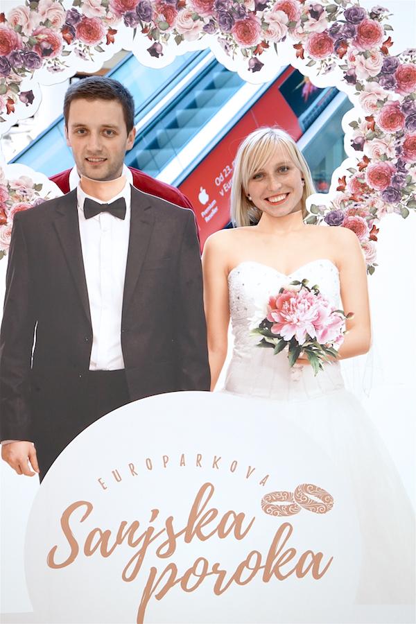 Zmagovalca Europarkove sanjske poroke