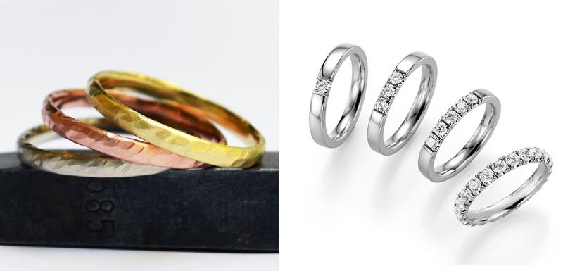 Več poročnih prstanov