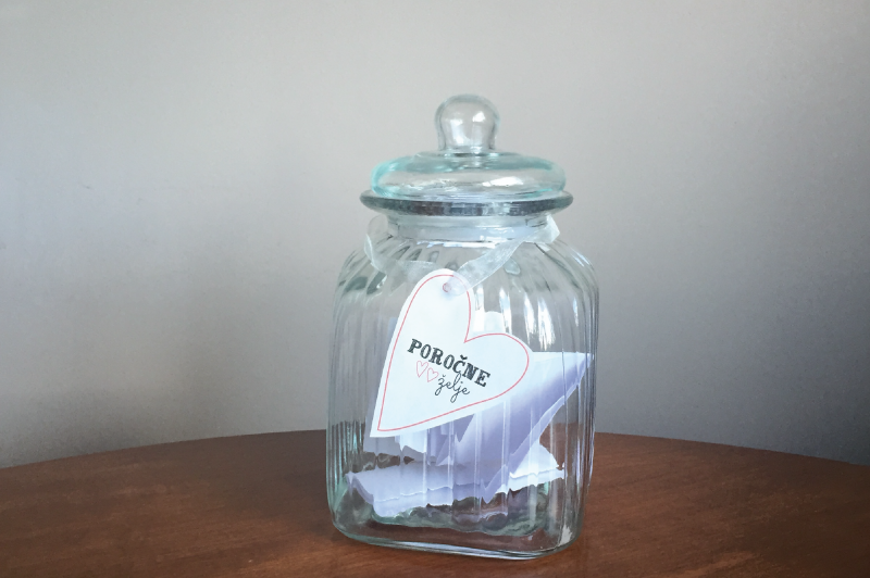 steklen kozarec, diy, jar, poročni zapis