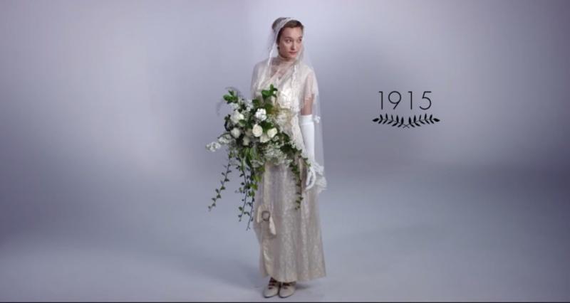 Poročna obleka leta 1915