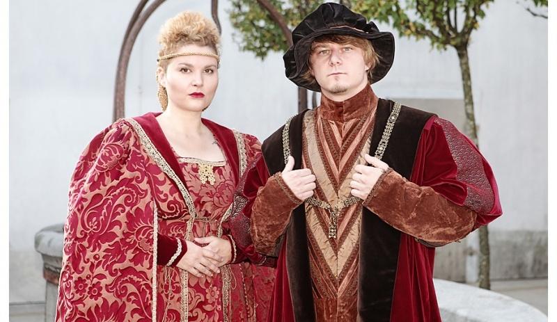 srednjeveška poroka, ljubljanski grad, poroka