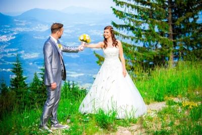 poroka, golte, poroka v hribih, poroka na golteh, poročni par