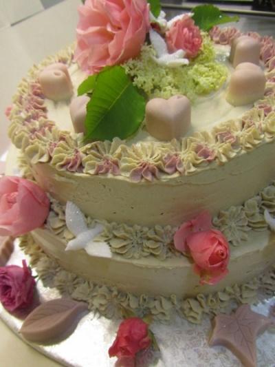 poročna torta, presna torta, veganska torta