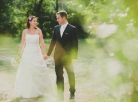 Poročno fotografiranje - nevesta in ženin