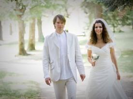 Ženin in nevesta - poročno fotografiranje