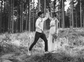 ženin in nevesta, poročno fotografiranje, portretna fotografija