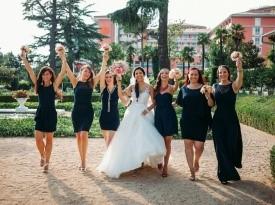 Poročno fotografiranje, nevesta, družice