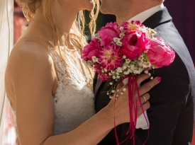 Sanjska poroka Monike in Boruta, poroka, ona-on.com, poročni šopek