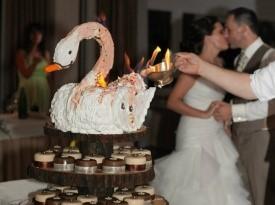 poročni par, poroka, bled, zaobljuba, foto geci, ljubezen, poročna torta