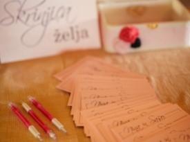 Poročna dekoracija, skrinja želja