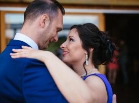 Mladoporočenca, prvi ples, ljubezen