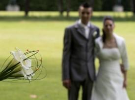 Detajl poročnega šopka.