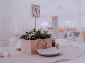 Poročna dekoracija, namizna dekoracija, Zaobljuba.si