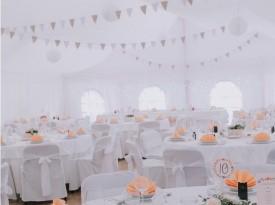 Poročna dekoracija, poroka pod šotorom, Zaobljuba.si