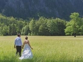 Gorska poroka, poroka v naravi, poročno fotografiranje, poročni fotograf