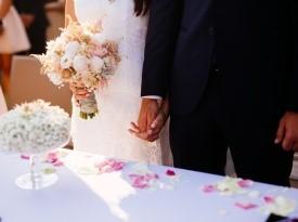 Poročni obred na Gradu Gredič.