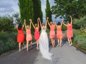 poroka, zaobljuba, nevesta, družice