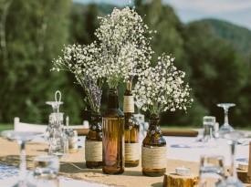 Poročna dekoracija - vintage