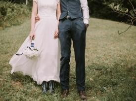 Poročna obleka, poročna fotografija, Zaobljuba.si