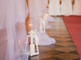 Poročna dekoracija cerkve