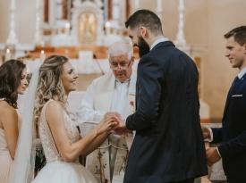 Cerkvena poroka Adrijana in Žiga
