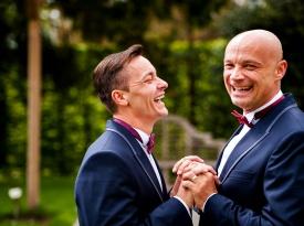 poroka, poročna fotografija, istospolna poroka, Iztok in Mitja