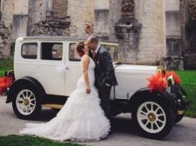 Poročno fotografiranje, poročni avto