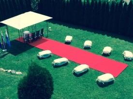 poročni prostor, vrt, seno, zelenica