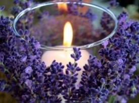 Poročna dekoracija sveče.