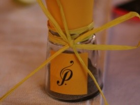 poprnica, družinski logo Pavec, darilo za svate