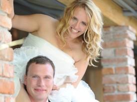 Tanja in Boris mladoporočenca