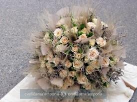 Poročni šopek in dekoracija.