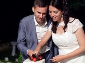 mladoporočenca, poroka, zaobljuba, poročna torta