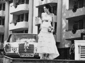 poročno vozilo, poroka, zaobljuba, nevesta