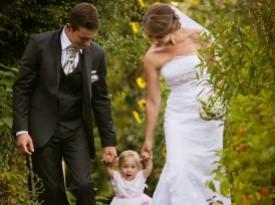poroka, zaobljuba, poročni par, družina